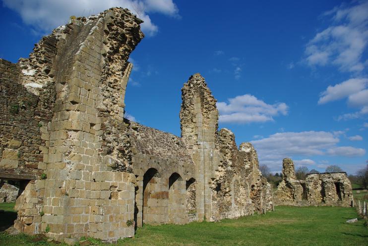 Vestiges de l'abbaye de Savigny, qui fut au XIIe siècle le siège d'un ordre puissant. (© Stéphane William Gondoin)