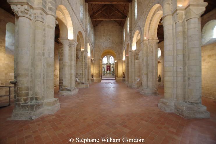 Intérieur abbaye de Graville