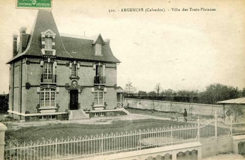 La maison du docteur Derrien, à Argences, siège de la Gestapo. (Coll.  P. Lesage)