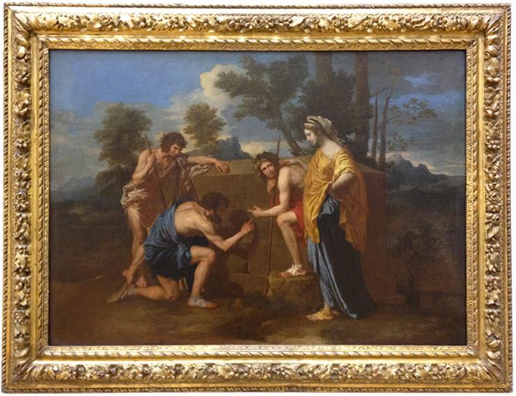 Les Bergers d'Arcadie, dit aussi Et in Arcadia ego, vers 1638 - 1640, Nicolas POUSSIN (© Musée du Louvre, dist. RMN / Angèle Dequier).