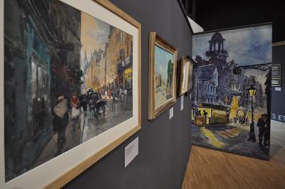 L'exposition « Caen en images - La ville vue par les artistes du XIXe siècle à la Reconstruction » au musée de Normandie à Caen (Photo Rodolphe Corbin © Patrimoine Normand).