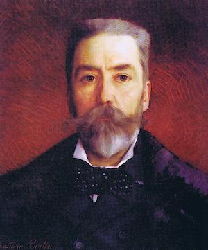 Camille Albert peint par A. Bertin en 1886 (musée centre des arts Fécamp).