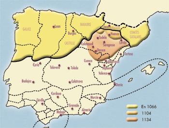 Carte Reconquista en Espagne (© Patrimoine Normand)