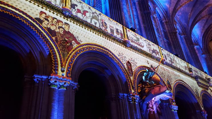 Représentation de « La Cathédrale de Guillaume » à Bayeux (© CB - OT Bayeux Intercom).
