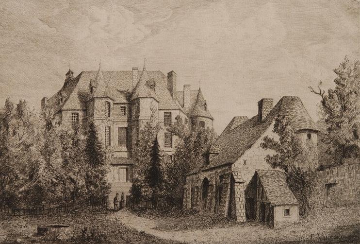 Château d'Harcourt -?Émile Vaucanu (© Musée des Beaux-Arts de Bernay).