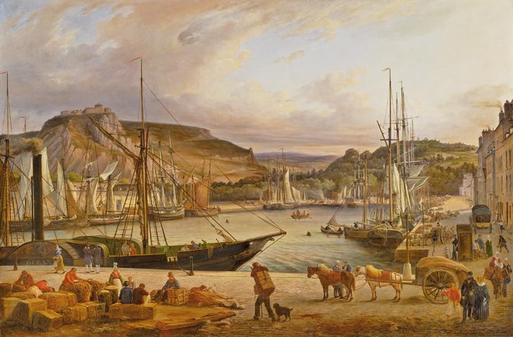 Claude Félix Théodore Deligny (1798-1863). Vue de Cherbourg, 1831. ( ville de Cherbourg-en-Cotentin/musée Thomas-Henry)