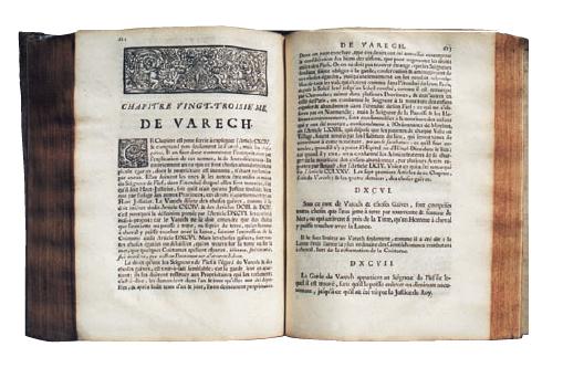 La coutume de Normandie, en usage jusqu'à la Révolution, encore utilisée dans les îles anglo-normandes (Jersey et Guernesey - aux noms bien scandinaves) présente quelques aspects du droit d'influence scandinave comme ici avec le droit de varech présenté dans un ouvrage publié à Rouen en 1727.