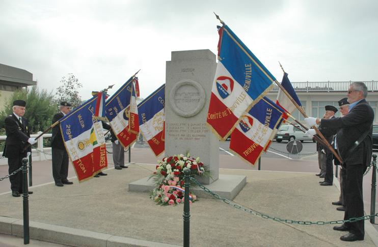 Commémoration du 70e anniversaire, le 25 juillet 2014, sur les Planches de Deauville. ( Ghislain Quétel)