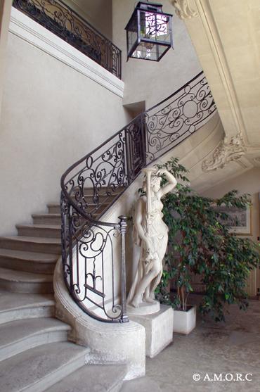Escalier - Château d'Omonville