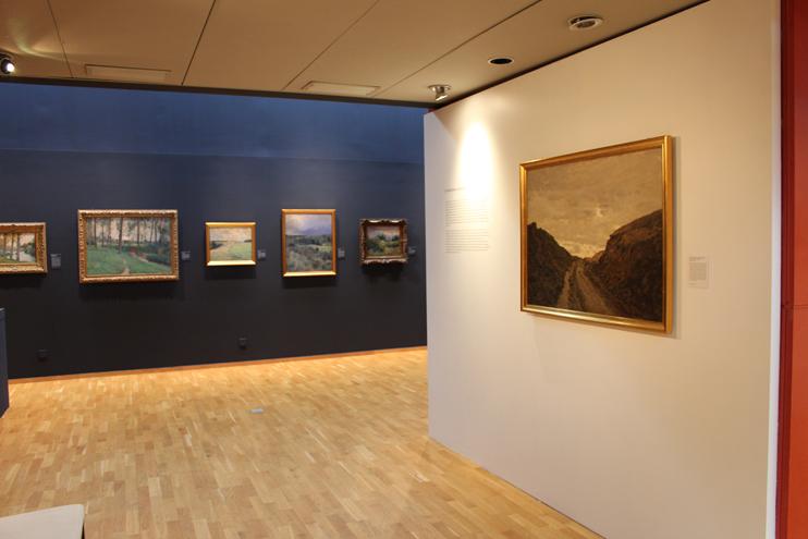 L'exposition « Victor Binet, le réalisme en paysage » au musée Alfred-Canel, Pont-Audemer (© Musée Alfred-Canel).