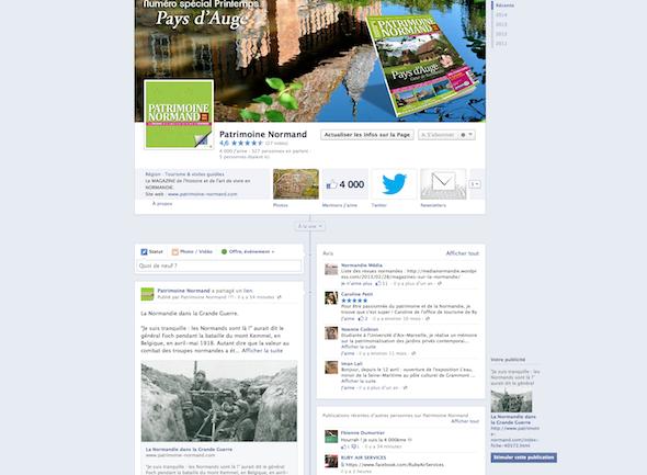 Facebook Patrimoine Normand