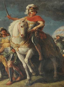 La descente de Guillaume le Conquérant en Angleterre, détail du tableau de Nicolas-Bernard Lépicié Salle du réfectoire