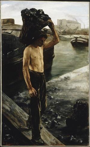 Henri Gervex, Le Quai de la Villette à Paris ou Le Coltineur de charbon, 1882, huile sur toile, Lille, Palais des Beaux-Arts. (© Lille Palais des Beaux-Arts)