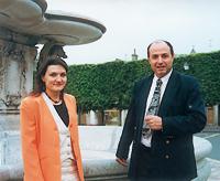 Isabelle Audinet et Georges Bernage (© Eric Bruneval - Patrimoine Normand).