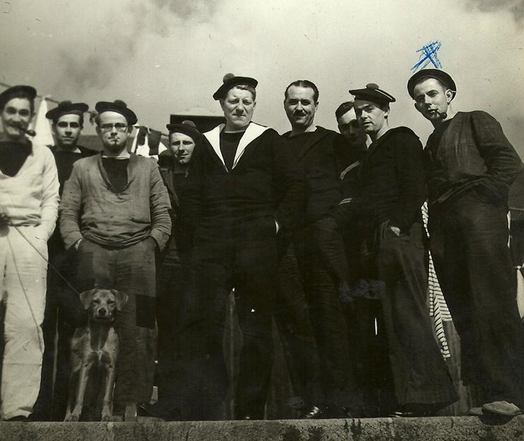 Septembre 1939, Jean Gabin mobilisé dans la marine nationale à Cherbourg (© photo famille Moncorgé).