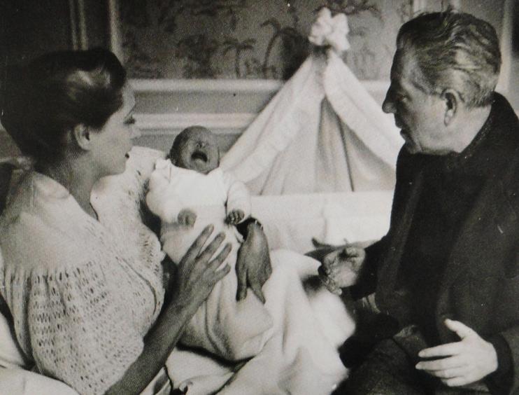 Christiane Fournier et Jean Gabin (© photo famille Moncorgé).