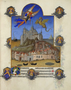 Le Mont Saint-Michel. Les Très riches heures du duc de Berry. XIVe.