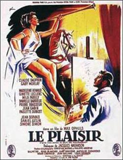 """Le plaisir - 1952. La petite gare où descendent les pensionnaires de la maison Tellier pour assister à la communion est celle de Cahan près de Pont-Erambourg (à la limite de l'Orne et du Calvados), située à l'époque sur la ligne Pont-d'Ouilly-Flers. L'équipe du film prit ses quartiers dans le manoir de """"La Hiaule"""" (toujours existant) sur la commune de Pontécoulant (Calvados), et bien que l'on ne voit jamais le château à l'écran (sauf son pigeonnier), toutes les scènes champêtres furent tournées tout à l'entour. Max Ophüls adorait cette région pour """"la douceur de ses vallonements"""". Le pré où Jean Gabin tente un amour qui restera platonique avec Danièle Darrieux, tandis que les dames cueillent des fleurs artificielles, est resté à l'identique. La scène extérieure de la communion solennelle se déroule dans le pittoresque village de la Chapelle Engerbold (près de Pontécoulant) où les habitants en costumes d'époque processionnent autour de la petite église. Le curé d'alors, refusant que des caméras rentrent à l'intérieur de l'édifice, l'église fut reconstituée aux studios de Joinville dans des proportions beaucoup plus démesurées, ce qui donne à la cérémonie proprement dite, un caractère plus """"cathédrale que rural"""". Jean-Gabin qui devait promener les pensionnaires de la Maison Tellier en charette à travers le bocage ne put apprivoiser les chevaux rétifs et fut doublé par un habitant de la Chapelle Engerbold (DR)."""