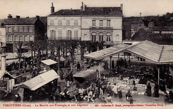 Le marché de Vimoutiers (DR).