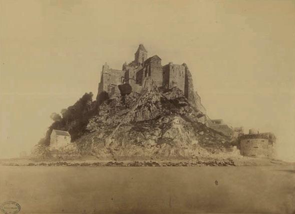 Vue générale du mont Saint-Michel. 1872 - Delmaet, Hyacinthe-César.