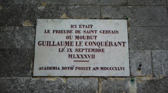 Rouen - Emplacement où mourut Guillaume. Au-dessous subsiste une crypte très ancienne (© SWG).