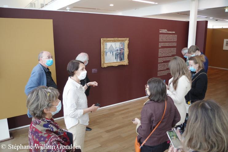 Présentation à la presse par Annette Haudiquet, conservateur du musée et commissaire de lexposition.