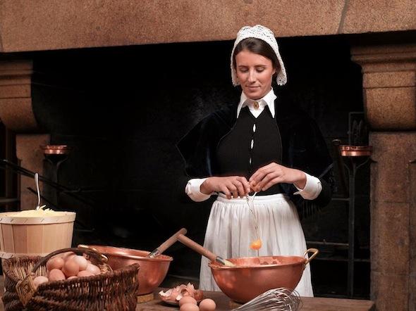 omelette mère poulard - préparation