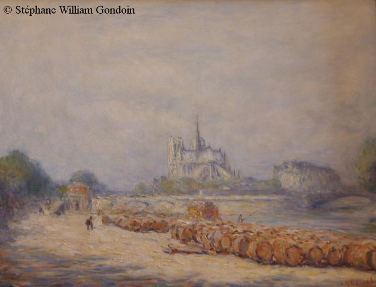 Une petite merveille signée Eugène-Anatole Hillairet, Le quai aux vins et Notre-Dame, vers 1900. (© coll. Privée – Photo Stéphane William Gondoin)