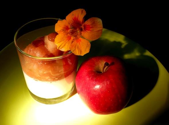 Pana cotta aux pommes