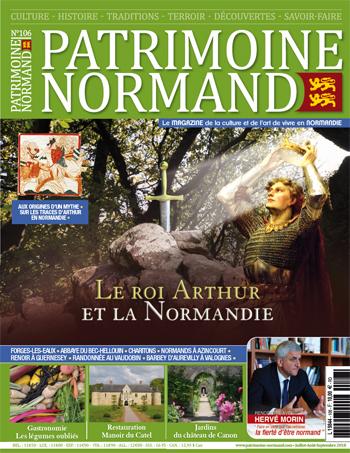 Patrimoine Normand n°106 (Juillet-Août-Septembre 2018). En kiosque à partir du 10 juillet 2018 - 108 pages. Magazine trimestriel.