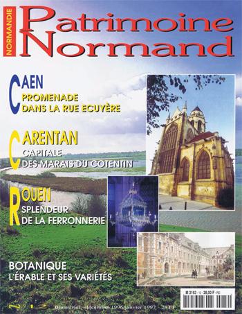 Patrimoine Normand n°12 (Décembre 1996-Janvier 1997). En kiosque à partir du 30 novembre 1996 - 68 pages. Magazine bimestriel.