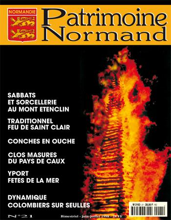 Patrimoine Normand n°21 (Juin-Juillet 1998). En kiosque à partir du 29 mai 1998 - 68 pages. Magazine bimestriel.