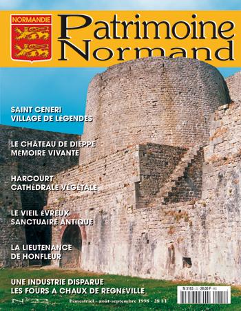 Patrimoine Normand n°22 (Août-Septembre 1998). En kiosque à partir du 31 juillet 1998 - 68 pages. Magazine bimestriel.