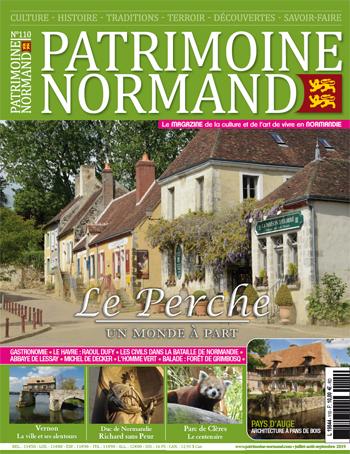 Patrimoine Normand n110 (Juillet-Aout-Septembre 2019). En kiosque à partir du 10 juillet 2019 - 108 pages. Magazine trimestriel.