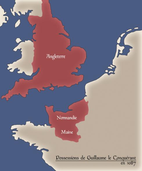Possessions de Guillaume le Conquérant en 1087