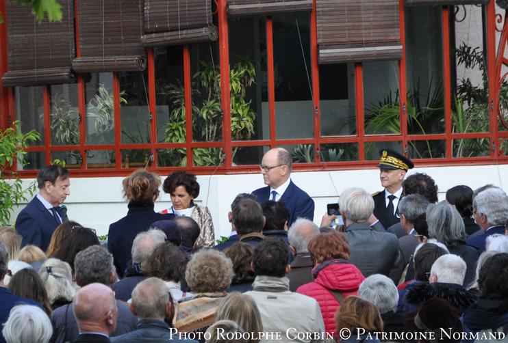 Jeudi 25 avril 2019. Le Prince Albert II de Monaco au musée Christian-Dior à Granville, inaugure l'exposition « Grace de Monaco, princesse en Dior » (Photo Rodolphe Corbin © Patrimoine Normand).
