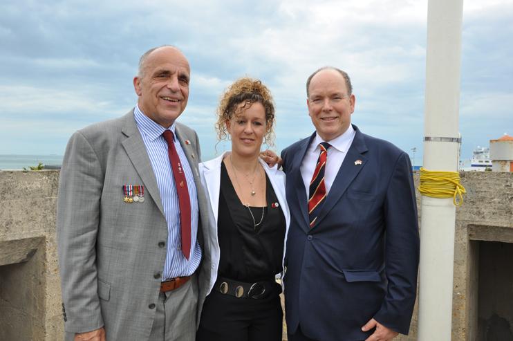 5 juin 2019, visite du prince Albert de Monaco au musée du Mur de l'Atlantique, à Ouistreham (photos Rodolphe Corbin © Patrimoine Normand).