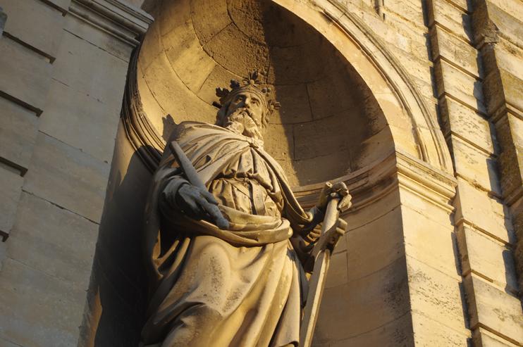 Le duc Richard Ier. Statue monumentale du portail occidental, Trinité de Fécamp