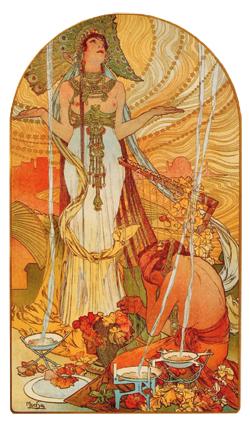 Salammbô, affiche réalisée par Alfons Mucha en 1896. (DR)