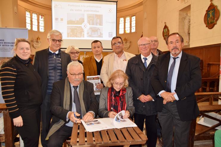 Signature de la convention entre la commune et la Fondation du patrimoine