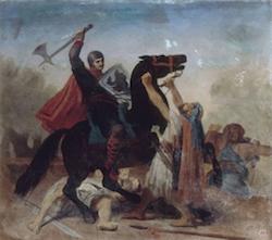 Tancrède de Hauteville, combattant sur le mont des Oliviers. Représentation de Emile Signol, 1880 (© RMN)