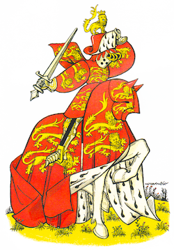 Le duc de Normandie, d'après l'Armorial de la Toison d'or datant du XVe siècle.