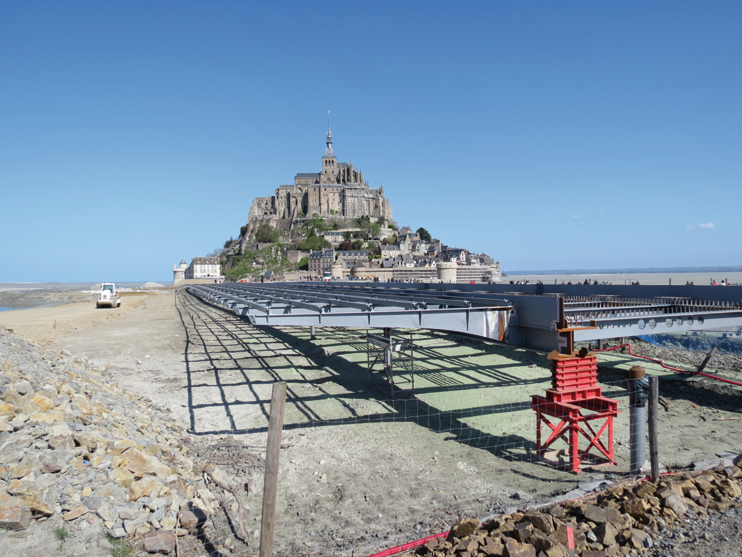 Les grands travaux au Mont Saint Michel