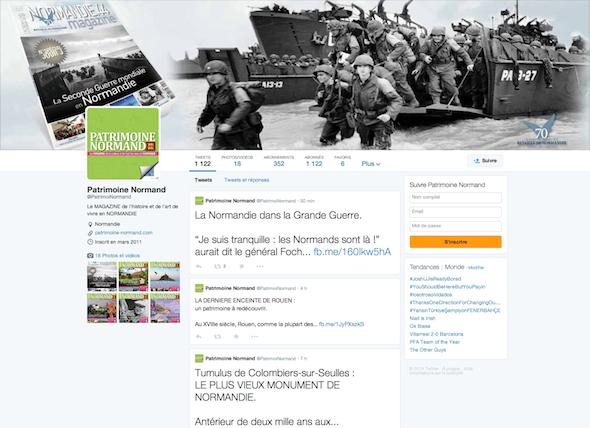 Twitter Patrimoine Normand