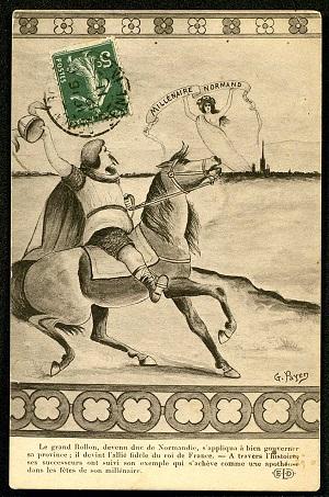 Carte postale du Millénaire normand, 1911 - Le grand Rollon. (ADSM, 2 Fi-Rollon1)