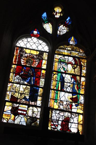 Vitrail de l'église Notre-Dame des Jonquerets, dont la restauration est aussi au programme.  (© Virginie Michelland).