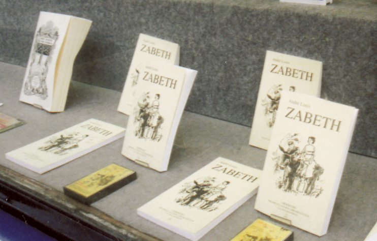 Zabeth à l'honneur en vitrine à Librairie Philippe Le Lanchon, à Cherbourg. (Photo Pierre Rique © Patrimoine Normand.)